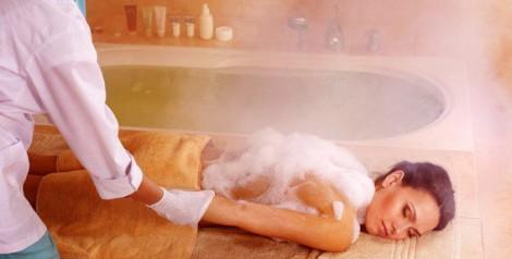 Целебный массаж в бане